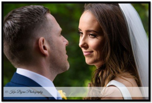 Intimate wedding photography of the bride and groom on the wedding day. Ballymagarvey Village, Ballymagarvey, Balrath, Co. Meath