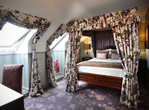 Luxrious four poster bed at Clontarf Castle