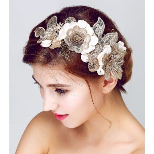 LEALANI Ornament Floral Headpiece