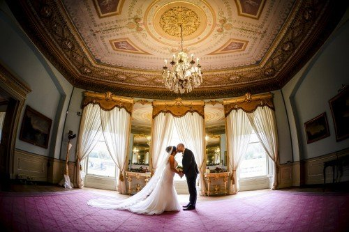 The drawing room provides a spectacular backdrop for our Bridal couples