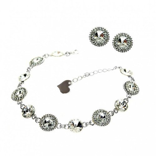 LUCY Swarovski Bracelet & Earring Personalized Set