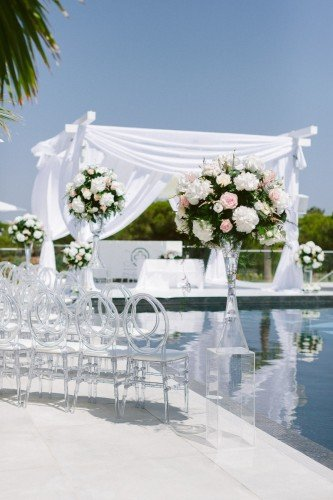 Luxury algarve wedding designed and coordinated by Weddings by Rebecca .