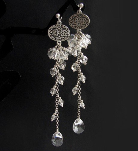 MIA Crystal Swarovski Long Earrings