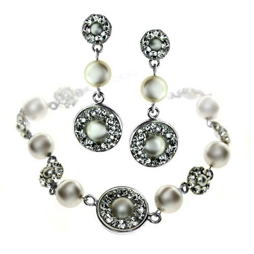 NOEMI Swarovski Pearl Bracelet and Earrings Set
