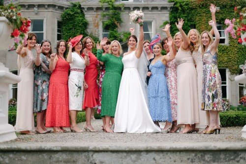 carol dunne photography wedding photography couple bride and groom happy love friends group of girls girl gang drinks reception