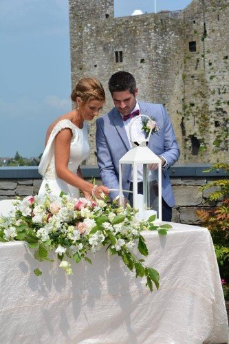 Outdoor Ceremony, Trim Castle Hotel, Castle Wedding Venue, Trim Castle Hotel