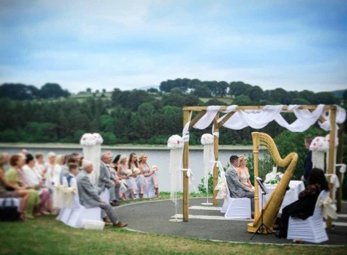 Outdoor Ceremony at The Avon Lakeshore Venue, Blessington Lakes