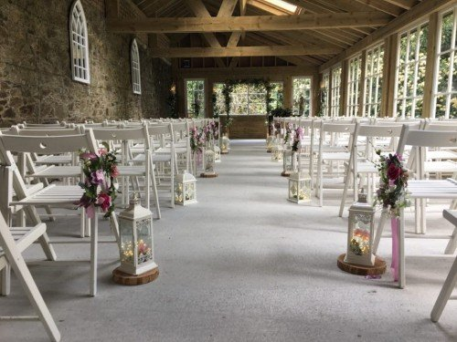 Pics of Kelly and Christophers wedding ceremony at Trudder Lodge