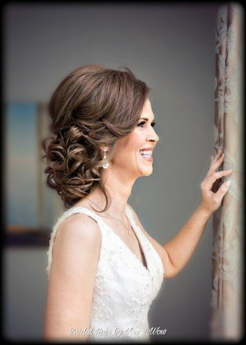 romantic bridal upstyle