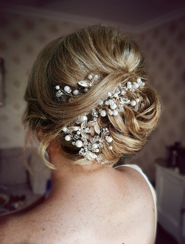 modern bridal french twist