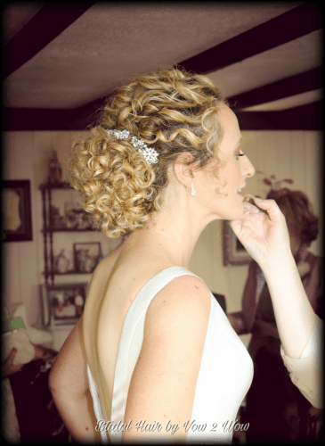 natural curls bridal hairstyle