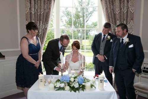 Real-Life Wedding Couple Civil Ceremony Leixlip Manor
