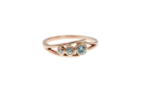 Rose gold and gemstone ring