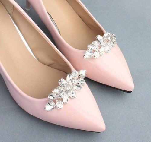ROSEF Crystal Bridal Shoe Clips