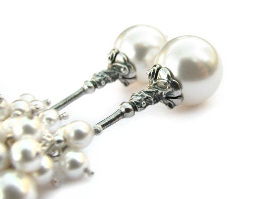 ROSITA Swarovski White Pearl Earrings