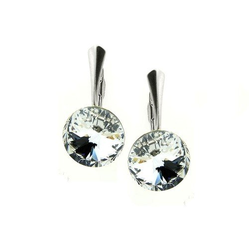 ROUND Swarovski Crystal Drop Earrings