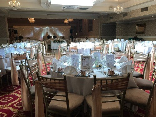 Chiavari Chairs with Sash/ Hotel Wedding Venues | Great National Abbey Court Hotel
