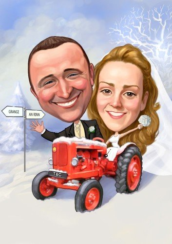 Snow, tractors, wedding couples...No idea too crazy!