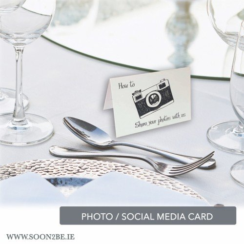 social media table cards