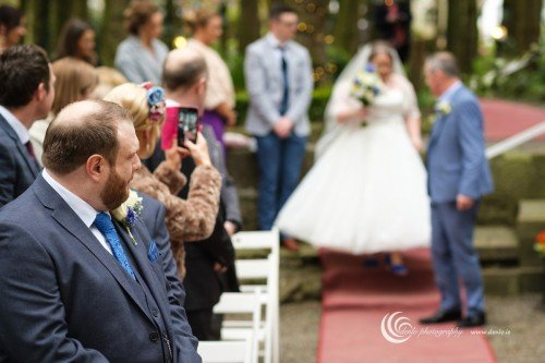 Stationhouse Hotel outdoor wedding ceremony