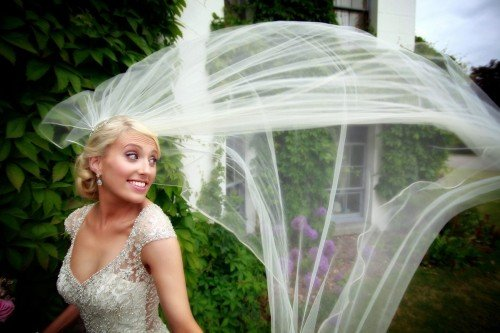 bride flying veil shot, Barberstown Castle, real wedding, amazing veil shot