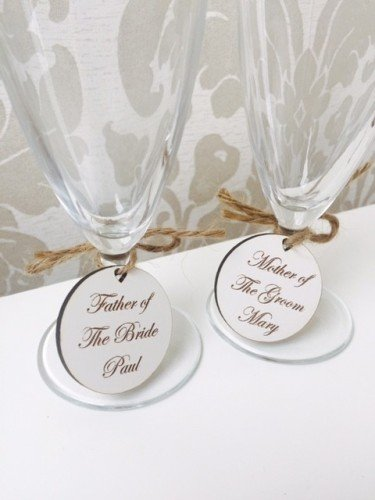 Champagne flute tags
