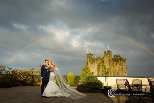 Trim Castle Hotel bride and groom