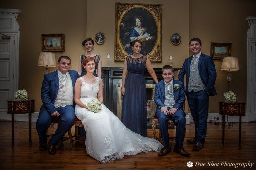 Wedding party at Palmerstown House