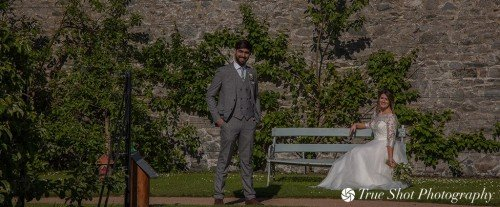 Bride and Groom at Ardgillan Castle