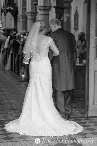 Bride and Father entering the St. Aidans church