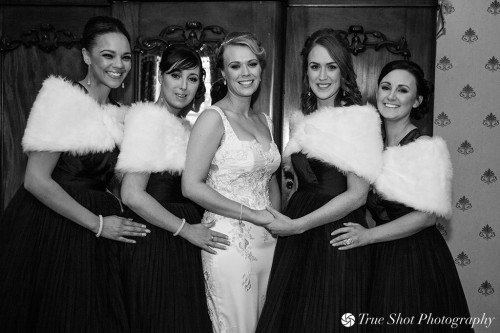 Bride and bridesmaids at Boyne Hill House Estate