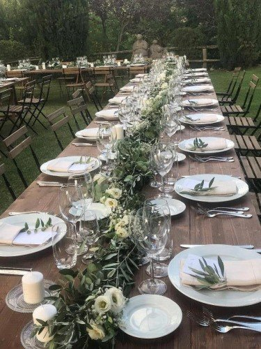 imperial table Tuscany wedding