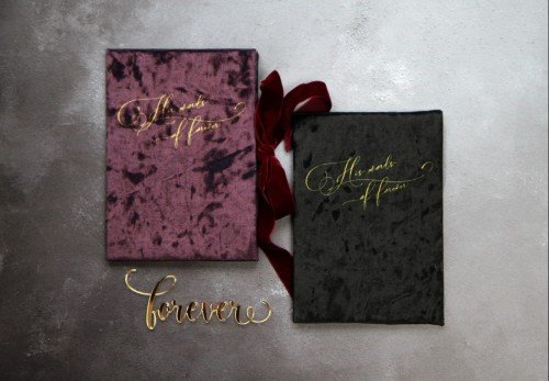 Velvet vow book luxury wedding invitations - Laser cut glitter invitation -Wedding Invitations - Mass Booklets - Calligraphers - Table Plan Designs