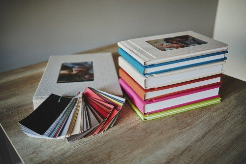 Wedding Albums covers colours