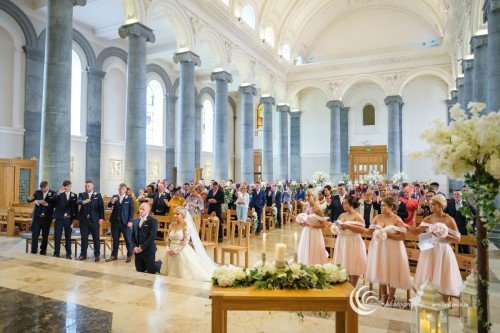 Wedding ceremony in St. Mels Cathedral, Longford
