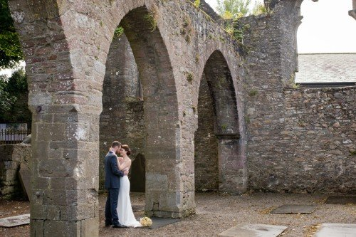 Wedding couple at Selskar Abbey