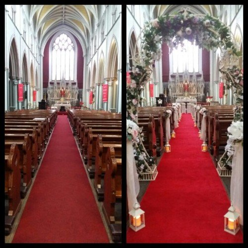 wedding decorations flower wall church ceremony civil ceremony