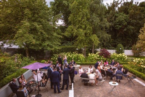 Wedding Guests in our beautiful terraced gardens