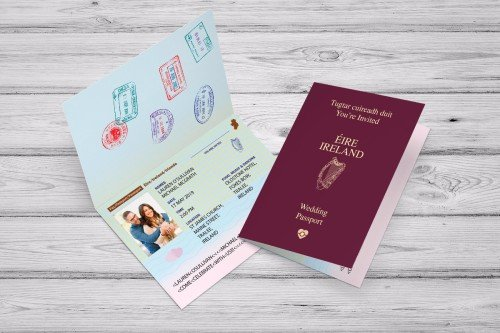 Passport Wedding Invitation