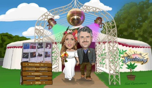 Wedding Invitations and Stationery - Andrew Goti Caricatures