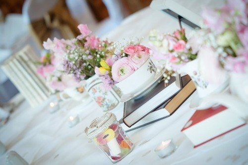 Wedding centrepieces at the Glenview Hotel