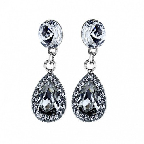 WHITE Crystal Drop Swarovski Earrings