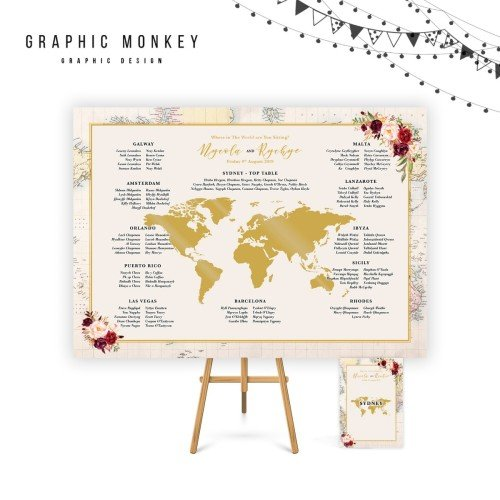 Where in The World - Table Plan