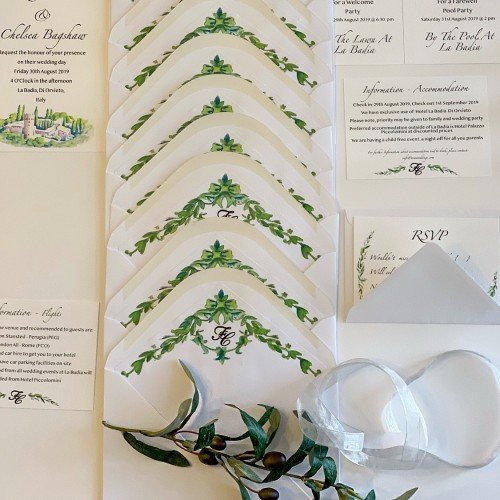 You've got mail, amazing creation by our bride, on trend with the Pantone