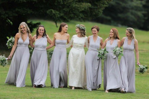 carol dunne photography girl gang bridesmaids bridal party castle friends friendship  kinnity castle