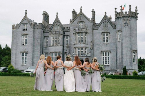 carol dunne photography girl gang bridesmaids bridal party castle kinnity castle