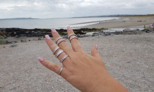 stunning diamond eternity rings selection by the sea