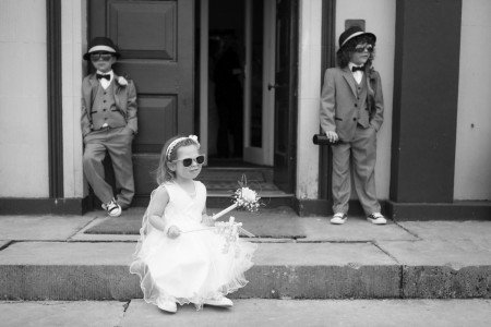 Kids at wedding in Boyne Hill House