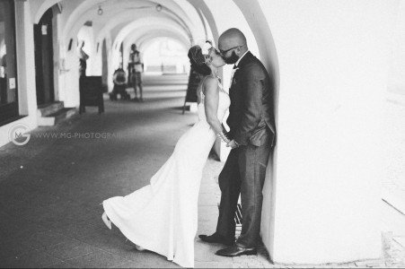 Black and White photo from Newlyweds Wedding Photoshoot