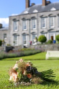 Bouquet on the lawn